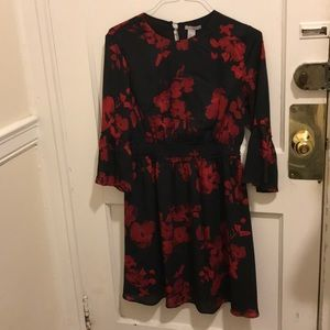 H&M black and red dress